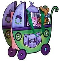 DISOK - Bolsa De Regalo & Presentacion Cochecito Verde - Bolsas para Bebés, Recién Nacidos