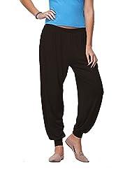 Go Colors Womens Harem Pants (201232387_Black_Free Size)