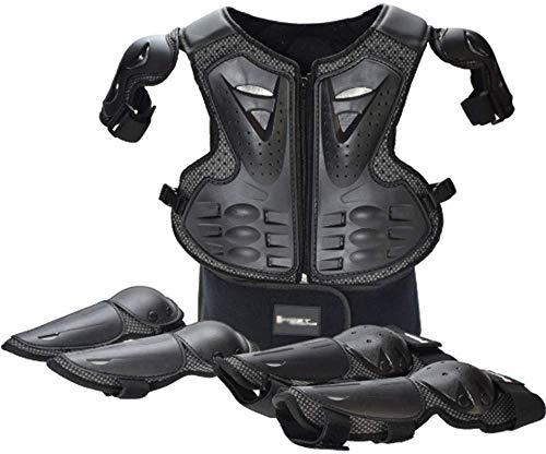 Motorrad Schutzausrüstung Kinder Rüstung, Reiten Schutzanzug Sport Rüstung Knieschützer Ellenbogen, Skateboard Rollschuhlaufen Mountainbike Schutzweste