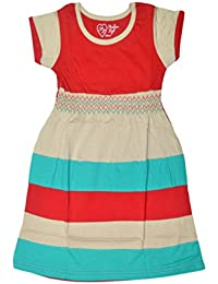 Sathiyas Akash Girls 100% Cotton Multicolored Dresses