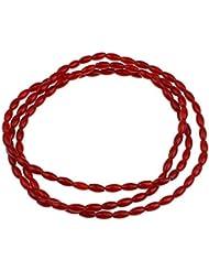 Koralle Armband, natürliche, oval, rot, 3x7mm