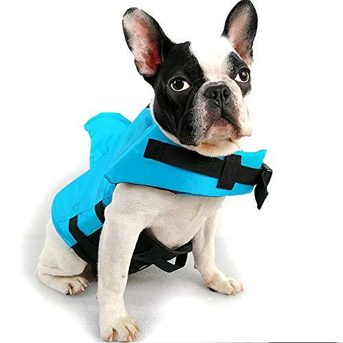 FIYOMET Schwimmweste für Hunde Badeanzug für große und kleine Hunde Shark Fin Swimwear Law Professional Jacken