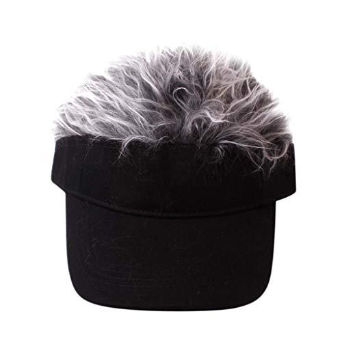 PRINCER Child Wig Solid Color Baseball Cap Hip Hop Versatile Summer Sun Hat  Cap Visor Fun 909e8fef6250
