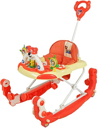 Ehomekart Baby Panda Walker cum Kids Rocker with Parental Handle - Red  available at amazon for Rs.1699