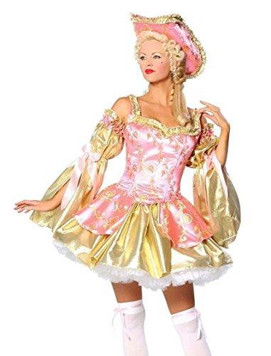 (Roma Costume Sexy Gräfin Kostüm - 4-teilig - Gold/Rosa - M/L)