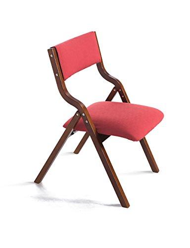 LHP Faltestuhl Einfache und Moderne Haushalt Holz Klappstühle Stoff Stuhl Computer Stuhl (7 Farben...