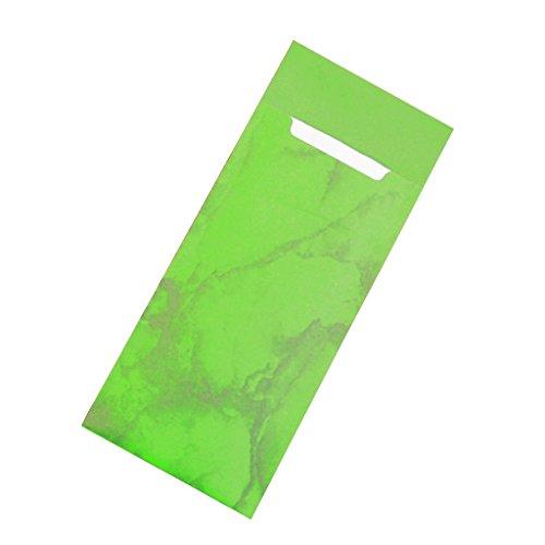 Gastropapier 30 Bestecktaschen mit Serviette Apfel-grün Marmoriert 20 cm