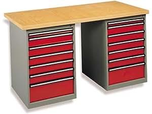 Sam outillage - 1512-HS - Etabli d'atelier 12 tiroirs