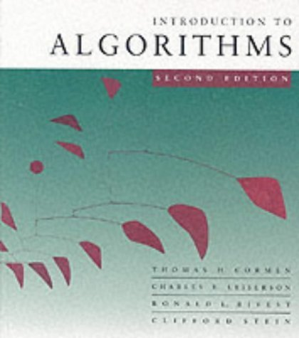 Introduction to Algorithms 2nd (second) Revised Edition by Cormen, Thomas H published by MIT Press (2001)