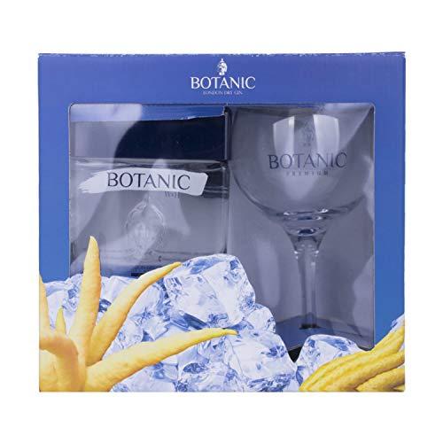 Botanic Premium London Dry Gin + GB con Glas 40,00% 0,7 l.