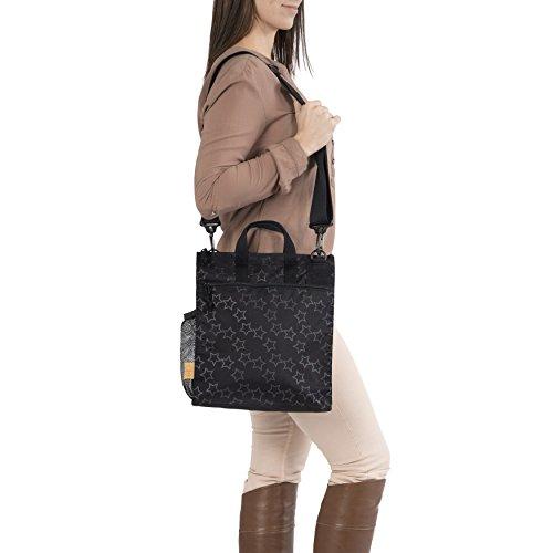 Lässig Casual Buggy Bag Organizer Kinderwagenorganizer/-tasche inkl. Stroller Hooks, Reflective Star, schwarz - 2