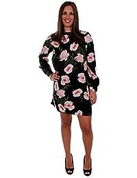 3e729cc63 Vero Moda Vestido Mujer Negro 10210145 VMHOLLY LS Short Dress D2-1 Black
