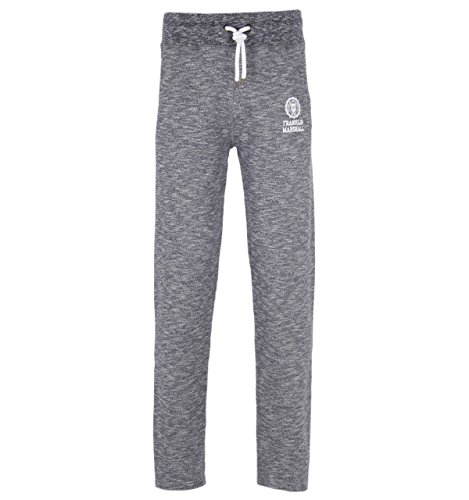 Franklin-Marshall-Blue-Melange-Cotton-Tracksuit-Bottoms-Extra-Large