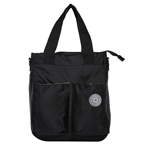Preisvergleich Produktbild Eshow Nylon Wickeltasche Mummy Bag Mama Tasche Baby Handtasche Umhängetasche Multifunktional, Schwarz