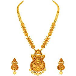 Atasi International Traditional Gold Plated Necklace Set for Women
