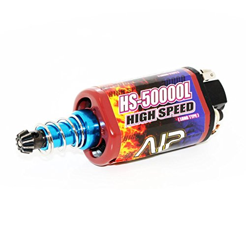 Airsoft Softair Ausrüstung AIP High Speed AEG Motor Lang Typ für M4 M16 MP5 G3 P90 (Motor Airsoft Lang)