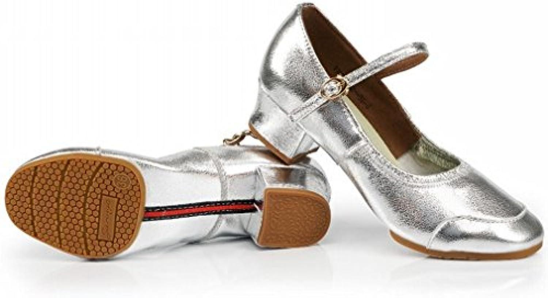 BYLE Sandali di Cuoio Cinturino alla Caviglia Samba Jazz Moderno Scarpe da Ballo Square Dance Scarpa Danza in... | Regalo ideale per tutte le occasioni  | Uomo/Donne Scarpa