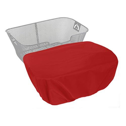 MadeForRain Extra große, Wasserdichte Regenhülle/Abdeckung für Fahrradkörbe CityTurtle XL - Tomatenrot