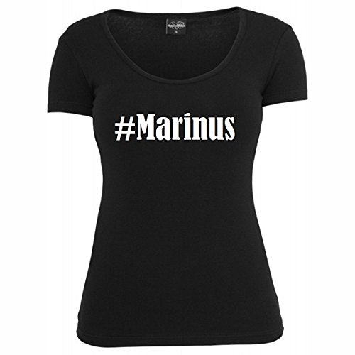 T-Shirt #Marinus Hashtag Raute für Damen Herren und Kinder ... in den Farben Schwarz und Weiss Schwarz