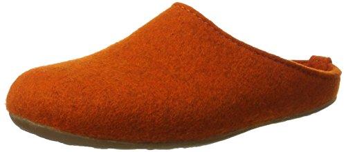Haflinger Unisex-Erwachsene Everest Fundus Pantoffeln, Orange (Rost), 40 EU