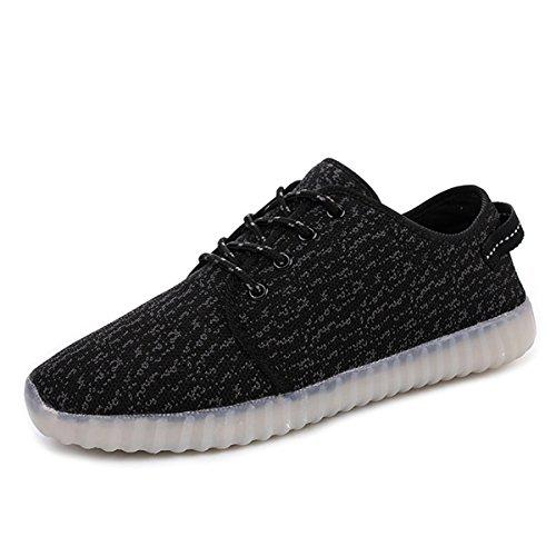 Joansam  Led Shoes,  Jungen Durchgängies Plateau Sandalen mit Keilabsatz Schwarz