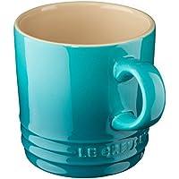 Le Creuset - Taza de gres, Cappuccino, 200 ML, Color Azul Caribe