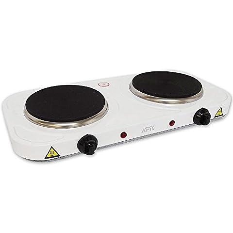 Plaque double blanc 2000 watts de cuisinière électronique réchaud de camping