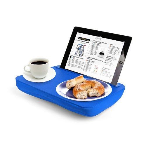 Kikkerland Halterung für Tablet blau (Blau Frühstück Kissen)