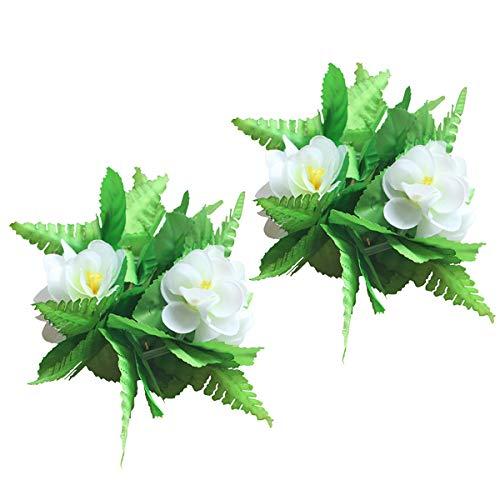 waiian Flower Leis Armbänder für Tropical Luau Party Dekoration Lieferungen (Grün) ()