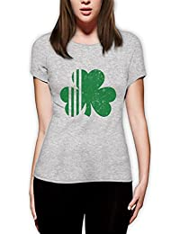 Saint Patrick's Day Irish Shamrock - Ireland's Clover Women Fitted Top T-Shirt