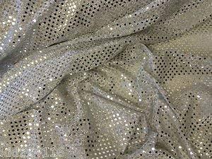 Stoffe Online UK Silber 3Mm Glänzend Spiegel Glitzer Pailletten Stoff Kostüm Kostüme Stoff Ist Meterware