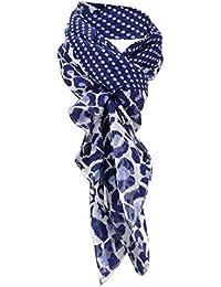 Halstuch in blau royal weiß kariert mit Fransen Tuch Größe 100 x 100 cm