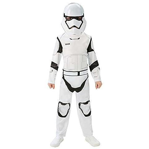 Costume enfant Stormtrooper deluxe Déguisement Star Wars enfants 164 - 170 cm 13-14 ans Tenue de guerrier cloné pour garçons habits La Guerre des étoiles stormtrooper vêtements Chasseurs impériaux déguisement Clones Troopers