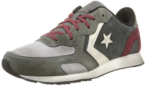 Converse, Auckland Racer Ox Suede Sneaker,Unisex Adulto, Grigio (Grey Dust/Charcoal), 43