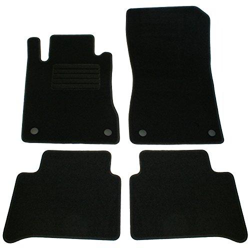 Velours Passform alfombras Set, negro