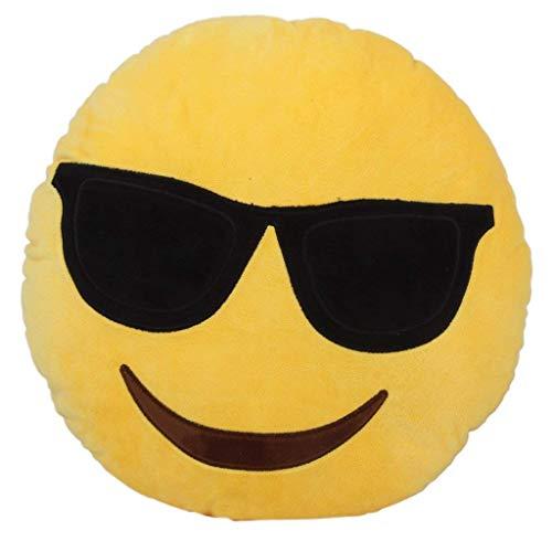 Mxdmai emoticon emoticon 32cm a 12.6 pollici emoticon giallo rotondo cuscino soffice peluche imbottito