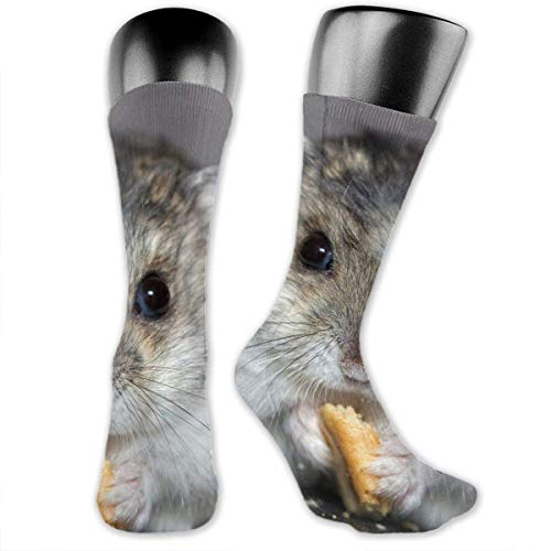 (HiExotic Strümpfe Breathable Hamster Dwarf Hamster Good Luck Below Knee Stockings Breathable Exotic Psychedelic Print Compression Elastic Socks Long Tube High Ankle Men Women)