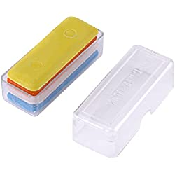 4Packs 4colores cera Sastres Modistas tiza marcador de tiza de costura para tela DIY ropa accesorios herramientas con caja de almacenamiento de plástico blanco/amarillo/naranja/azul)