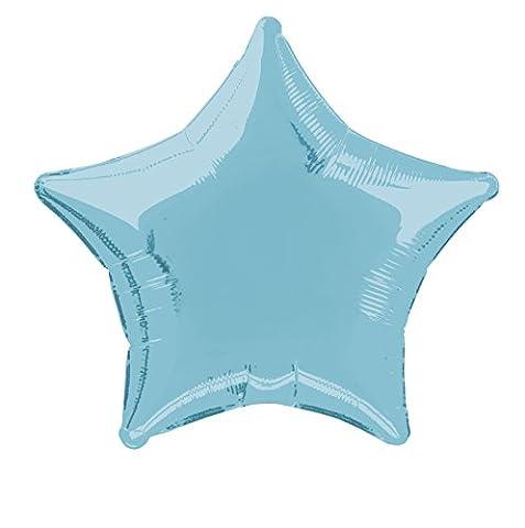 Unique Party - 53328 - Ballon à l'Hélium - Étoile - 50 cm - Bleu Pastel
