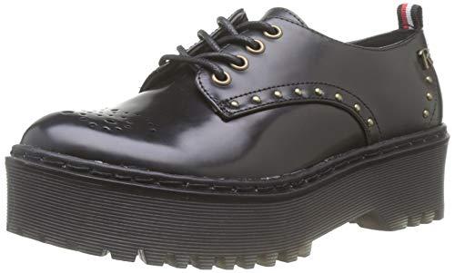 Refresh 69219, Zapatos de Cordones Oxford para Mujer, Negro Negro Negro, 39 EU