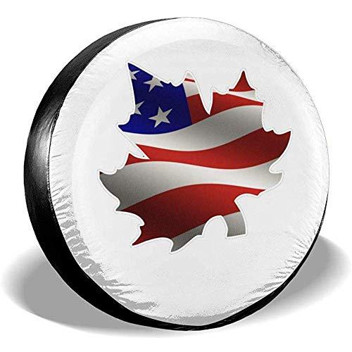 Hiram Cotton Spare Tire Cover Bandiera Americana all'Interno della Copertina Canadese Ruota di Scorta Copertura Pneumatici Fuoristrada velocità Estrema Overdrive Univers
