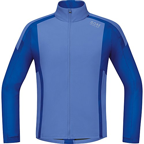 Gore Running Wear Air Windstopper Soft Shell - Camiseta de manga larga para hombre, color azul, talla S