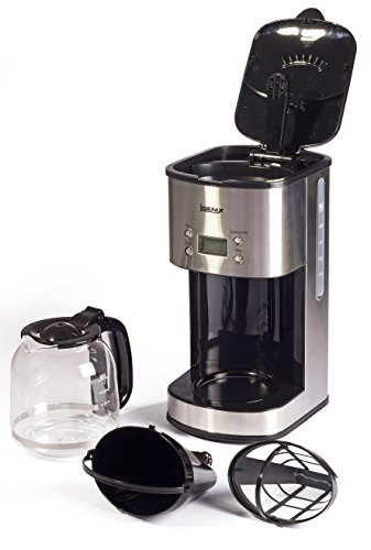 41HGF0MmCNL - Igenix IG8250 Digital Filter Coffee Maker, 12 Cup Carafe, Automatic 24 Hour Timer and Keep Warm Function, Removable…