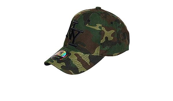 09cde1aeb9126 Chapeau-tendance - Casquette NY armée tachetée - - Mixte: Amazon.fr:  Vêtements et accessoires