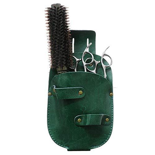 Étuis à ciseaux pour coiffeur étui/cuir,Green