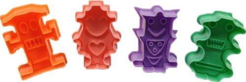 LIFECART Satz 4 Roboter Form Cookie Cutter Kolben Kuchen Schimmel Schimmel Dekoration Fondant Backformen Backen (Roboter-cookie-cutter)