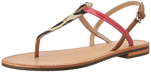 Geox D Sozy F Infradito, Donna, Beige (Lt Taupe/Coral), 40