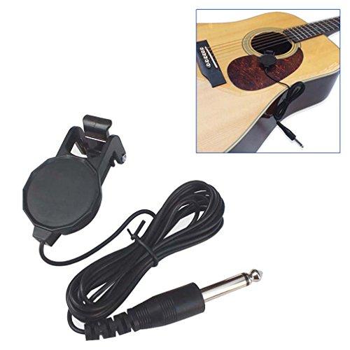 Toolso Tonabnehmer für Akustikgitarre, Mandoline, Bouzouki Violine, Banjo, Ukulele, 3 Stück