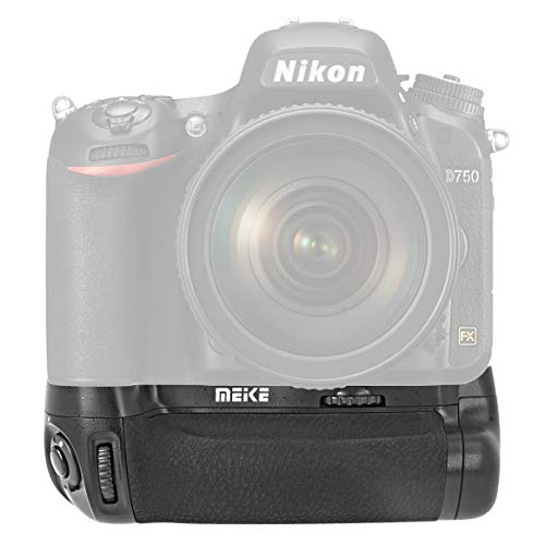 Meike Batteriegriff MK-D16 kompatibel mit Nikon D750, Ersatz für Nikon MB-D16