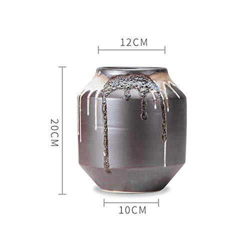 Vase, Keramik-Farbe Glase-Vase Home Blume eingegliederten Wohnzimmer-Dekorationsraum handgefertigte Keramik-Vase Handwerk,F